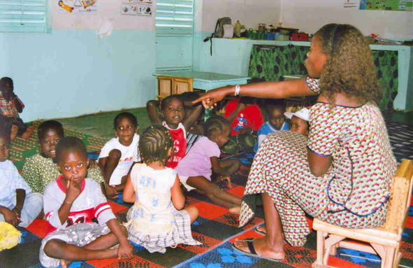 Le jardin d'enfants du Clep de N'Dangane