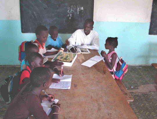Le soutien scolaire au Clep de N'Dangane