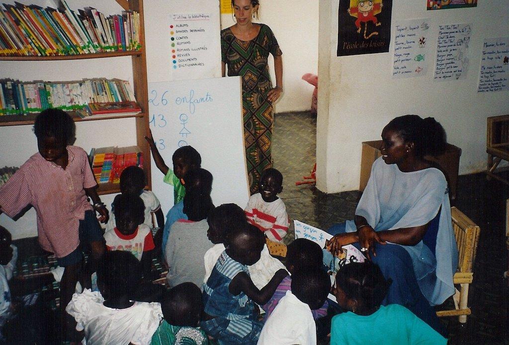 Les débuts du jardin d'enfants, en mai 2000