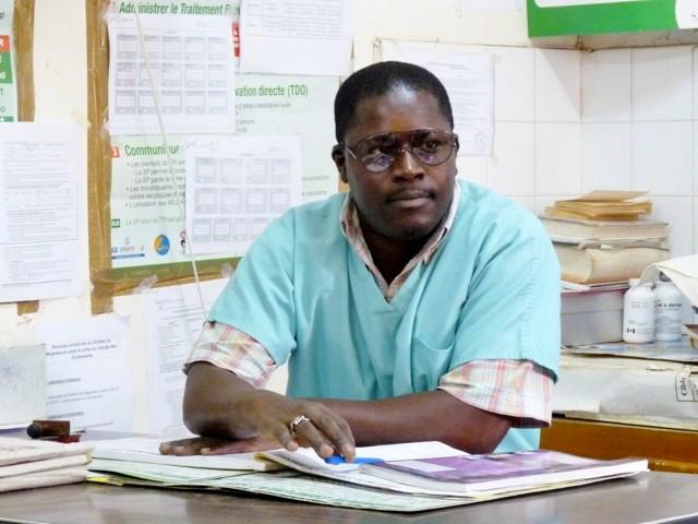 Makhoudia, infirmier du poste de santé à Ndangane